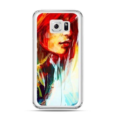 Etui na Galaxy S6 Edge kobieta akwarela