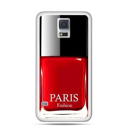 Etui na Galaxy S5 lakier do paznokci czerwony
