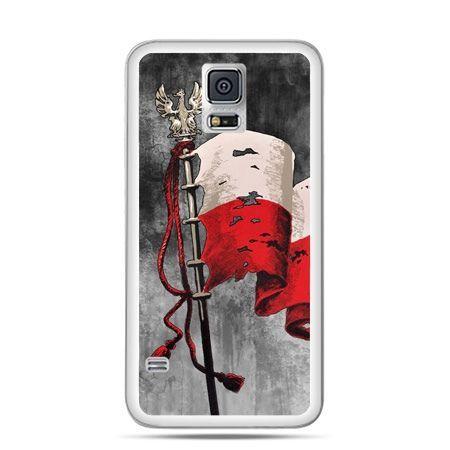 Etui na telefon Galaxy S5 Neo patriotyczne - flaga Polski