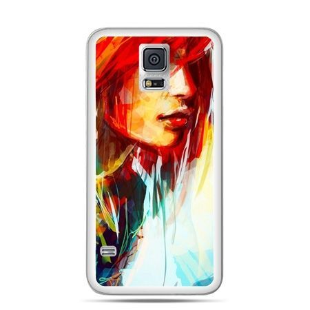 Galaxy S5 Neo etui kobieta akwarela