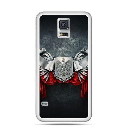 Etui na telefon Galaxy S5 mini patriotyczne - stalowe godło