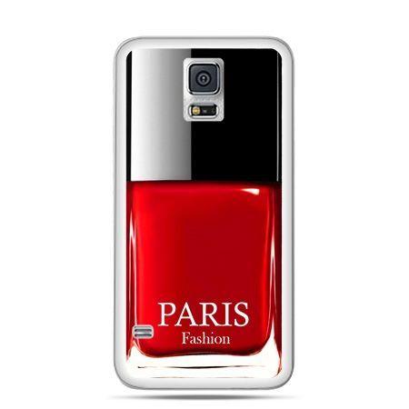 Etui na Samsung Galaxy S5 mini lakier do paznokci czerwony