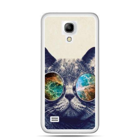 Galaxy S4 mini etui kot w tęczowych okularach