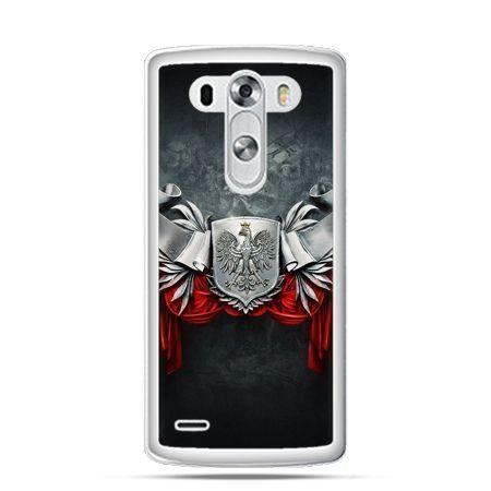 Etui na telefon LG G3 patriotyczne - stalowe godło