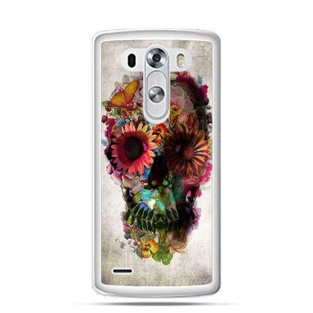 LG G3 etui czaszka z kwiatami