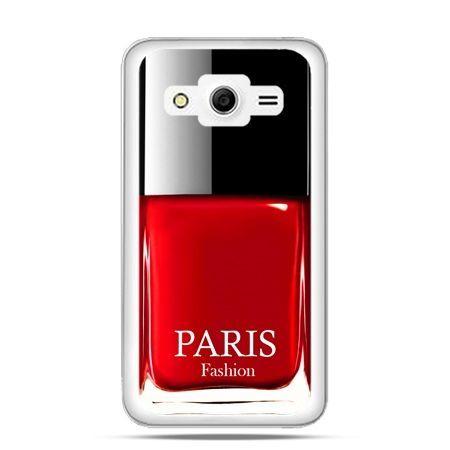 Galaxy Core 2 etui lakier do paznokci czerwony