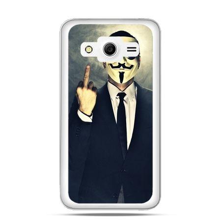 Galaxy Core 2 etui Anonimus Fuck You