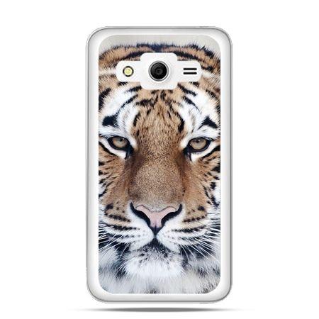 Galaxy Core 2 etui śnieżny tygrys