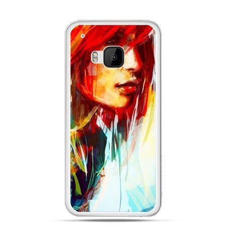 Etui na HTC One M9 kobieta akwarela