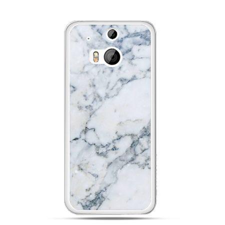 Etui na HTC One M8 biały marmur