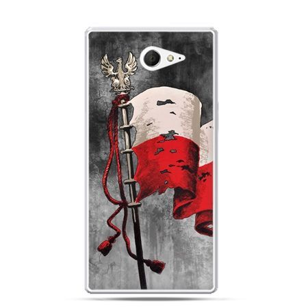 Etui na telefon Xperia M2 patriotyczne - flaga Polski