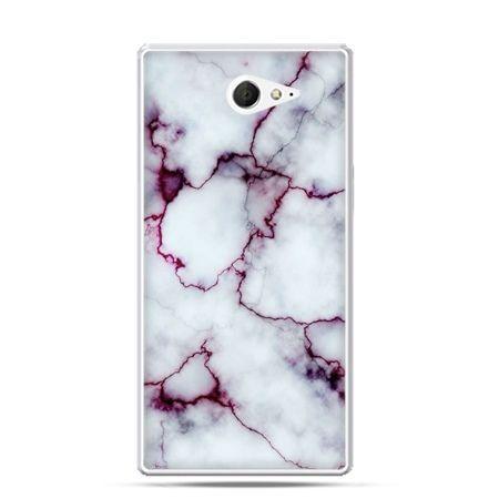 Sony Xperia M2 etui różowy marmur