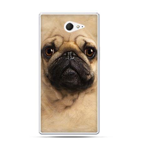 Sony Xperia M2 etui pies szczeniak Face 3d