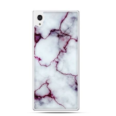 Etui na Xperia M4 Aqua różowy marmur