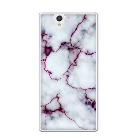 Etui na Xperia Z różowy marmur