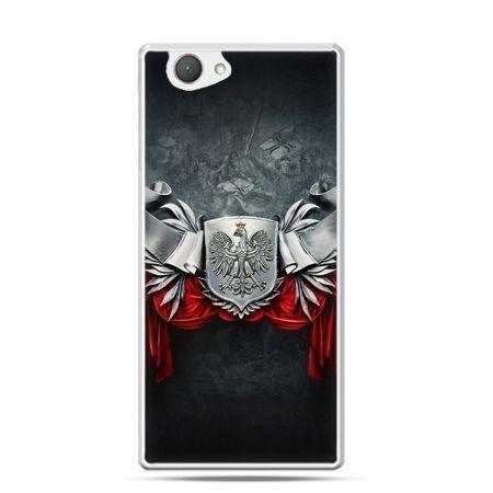 Etui na telefon Xperia Z1 compact patriotyczne - stalowe godło