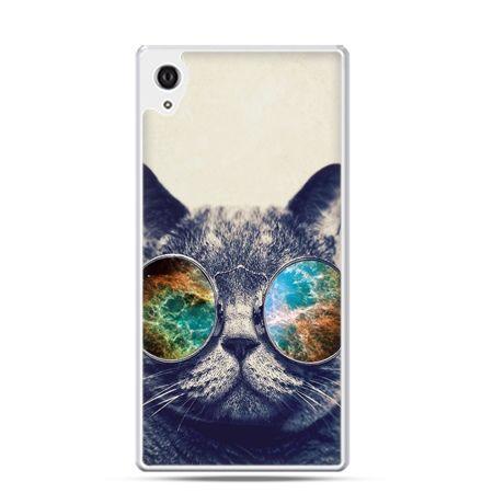 Xperia Z1 etui kot w tęczowych okularach