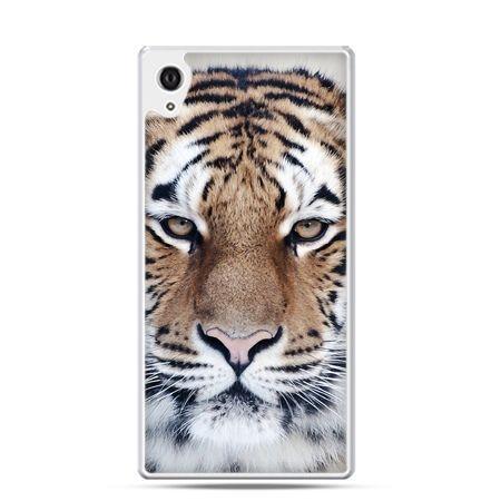 Xperia Z1 etui śnieżny tygrys