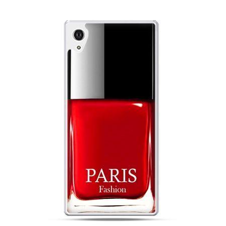 Xperia Z2 etui lakier do paznokci czerwony