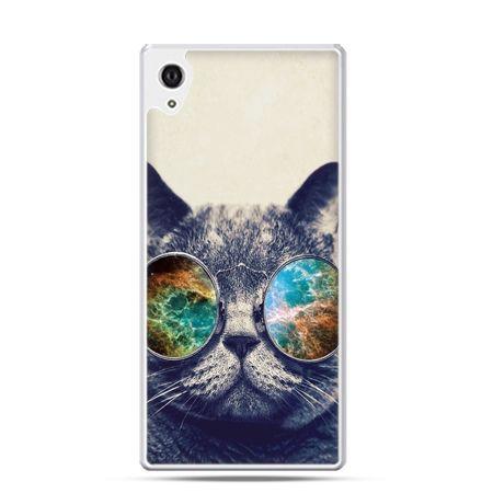 Xperia Z2 etui kot w tęczowych okularach