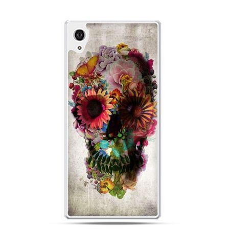 Xperia Z3 etui czaszka z kwiatami