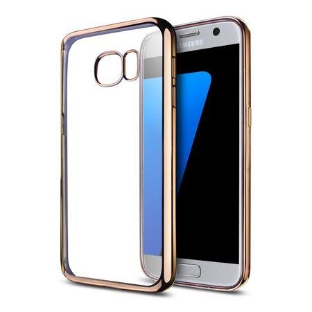 Galaxy S7 silikonowe etui platynowane SLIM kolor złote.