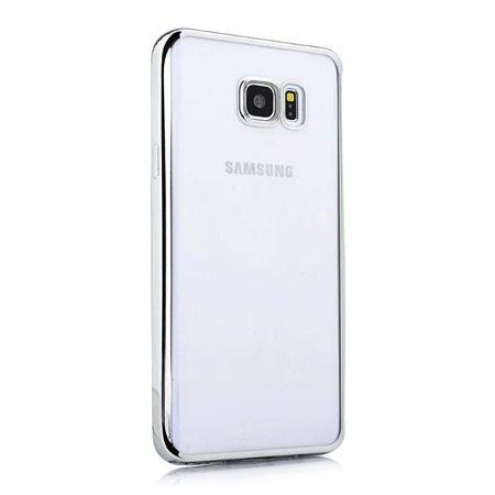 Samsung Galaxy S6 przezroczyste etui platynowane SLIM srebrne.