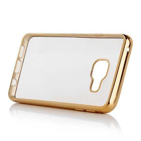 Samsung Galaxy A5 (2016) A510 przezroczyste etui platynowane SLIM złote.