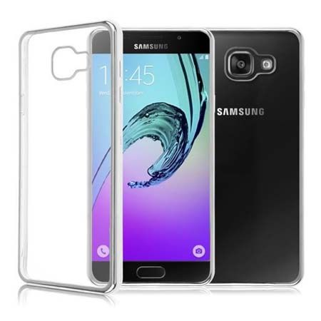 Samsung Galaxy A5 (2016) A510 przezroczyste etui platynowane SLIM srebrne.