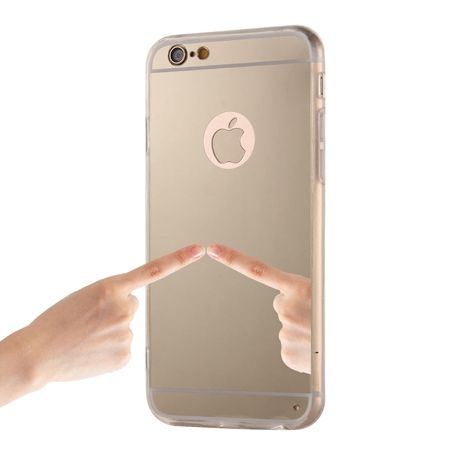 iPhone 6 Plus / 6s Plus lustro - etui lustrzane - mirror silikonowe TPU - złote.