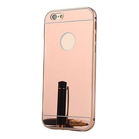 iPhone 6, 6s mirror etui aluminium bumper case (Rose Gold)  lustro - Różowy