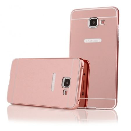 Mirror bumper case na Galaxy A5 2016 (Rose Gold) - Różowy