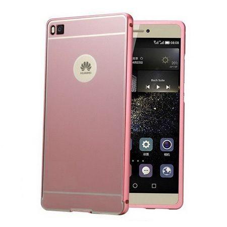 Huawei P8 Mirror bumper case (Rose Gold) - Różowy