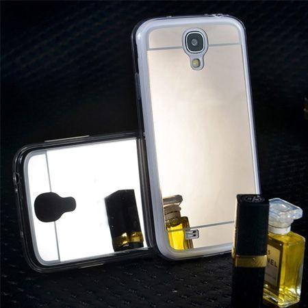 Galaxy S4 mirror - lustro silikonowe etui lustrzane TPU - złote.