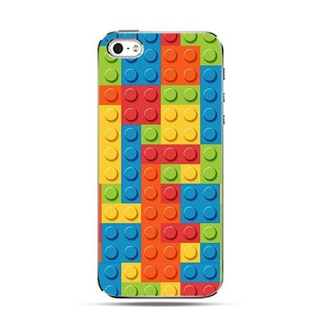 Etui na telefon iPhone 4 / 4s - klocki lego.