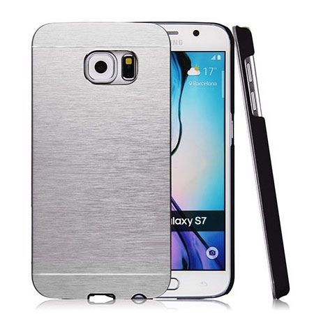 Galaxy S7 Edge etui Motomo aluminiowe srebrny.