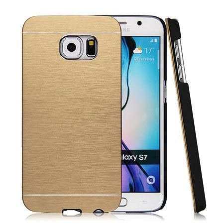 Galaxy S7 Edge etui Motomo aluminiowe złoty.
