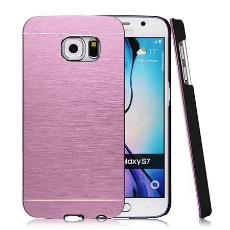 Galaxy S7 Edge etui Motomo aluminiowe różowy.