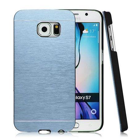 Galaxy S7 Edge etui Motomo aluminiowe niebieski. PROMOCJA !!!