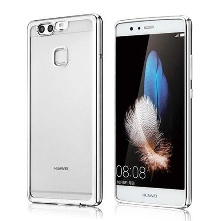 Huawei P9 etui silikonowe platynowane SLIM tpu srebrne.