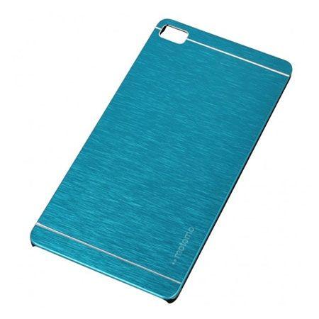 Huawei P8 etui Motomo aluminiowe niebieskie.
