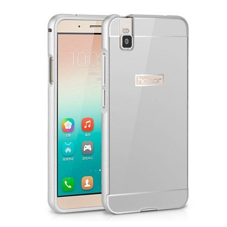 Bumper case na Huawei Honor 7i / ShotX - Srebrny