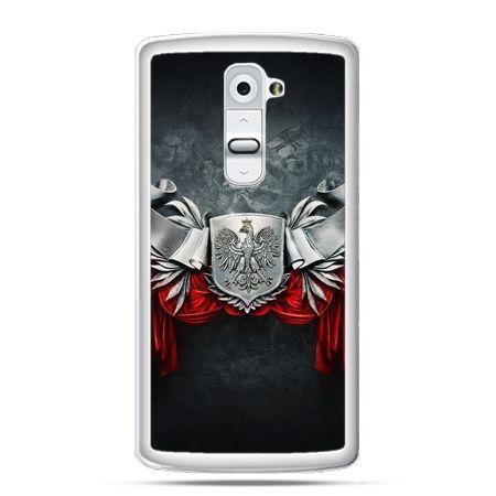 Etui na telefon LG G2 patriotyczne - stalowe godło