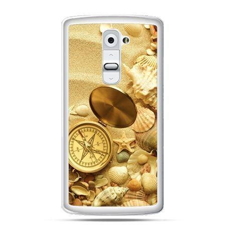 Etui na telefon LG G2 kompas na plaży