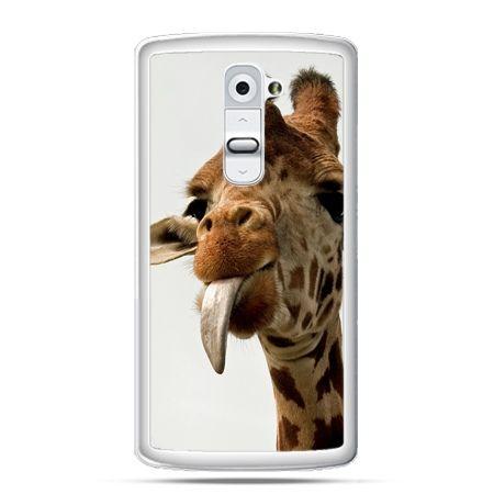 Etui na telefon LG G2 żyrafa z językiem
