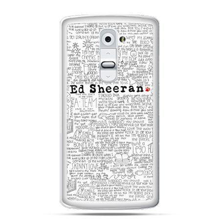 Etui na telefon LG G2 Ed Sheeran białe poziome