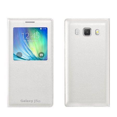 Galaxy J5,  J510 (2016r) etui Flip S View z klapką białe.