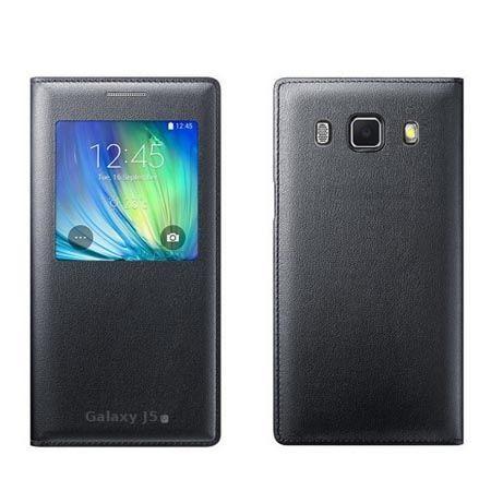 Galaxy J5, J510 (2016r) etui Flip S View z klapką czarne.