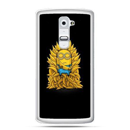 Etui na telefon LG G2 Minionek na tronie ,minionki