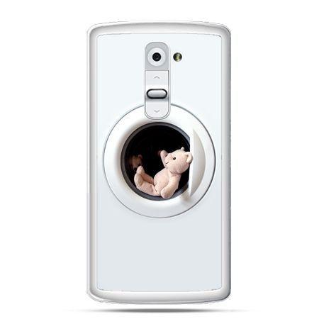 Etui na telefon LG G2 miś w pralce
